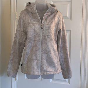Nike cream women's zip jacket with hood